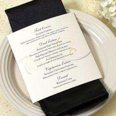 Scroll Dinner Menu, Wedding Menu, Deposit