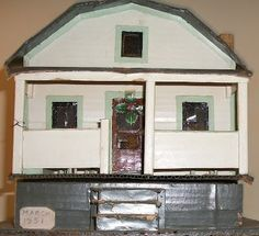 Folk Art Cardboard Miniature Doll House (1951) |  Source: Dull Tool Dim Bulb