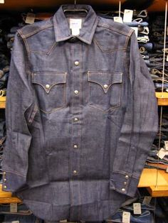 Levi's Denim Western Shirts, 1950's