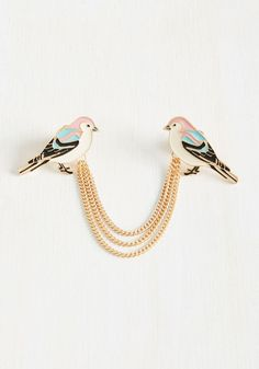 Chirps and Dip Collar Pin | Mod Retro Vintage Pins | ModCloth.com