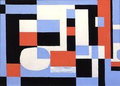 Would make a great modern quilt.  (Art by Stuart Davis)