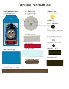 Last year I created and made a Thomas the Train Pop-Up Birthday card for our Grandson's 2nd Birthday. He loved it so much and still loves Thomas the Train that I made him another one this year.  I