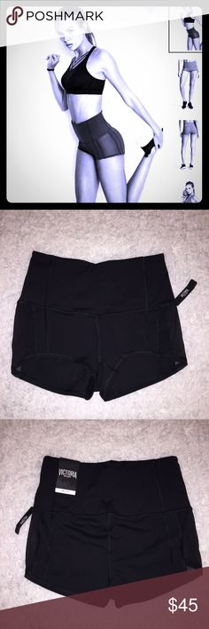 Victoria's Secret Sport High Rise Hot Short NEW! Victoria's Secret Sport Black hot shorts. High Rise. Size Small. Brand new with tags. Victoria's Secret Shorts