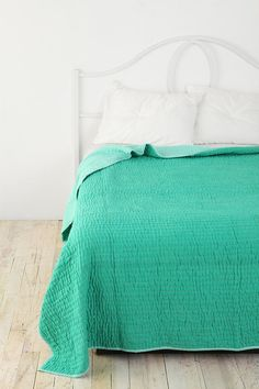 Pickstitch {urban outfitters} - Love this color and the simplicity. Would be gorgeous with our white bed!