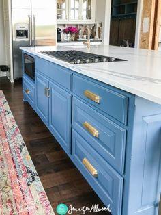 My New Blue Kitchen Island | Kitchen Remodel Jennifer Allwood