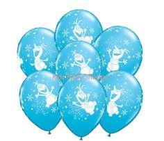 7ct Disney FROZEN OLAF 11 Latex Balloons by KidzPartyShoppe