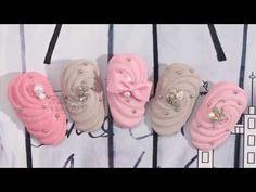 【Watch nail#969】Handmade Bowknot with Sugar Powder Texture【窝趣美甲推荐-969期】糖衣质感自制蝴蝶结款 - YouTube