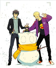 Lol, imagine if Akira And Ryuji hanged out during the winter, (no actually All the Persona 5? Gang would hang out during the Winter break)
