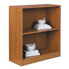 Reale Basic Bookcase 2 Shelves Canyon Maple By Office Depot Officemax