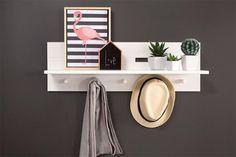 Prateleira de Parede Encanto - Branco Giz 80cm R$ 179,00 quarto de casal ou sala
