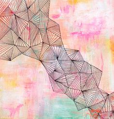 Faultline  Abstract Painting by lisacongdon on Etsy, $195.00