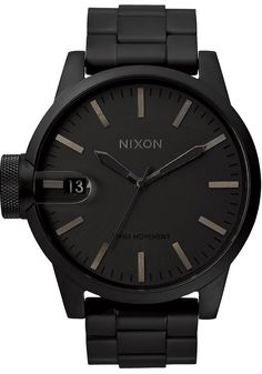 The Nixon Chronicle SS All Matte Black watch is now on sale at Watches.com