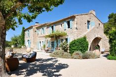 Country Home in France La Bergerie de Gibran This home is just oozing with that dreamy, european charm we all love. Nestled in the French countryside of Alpilles, this lovely home would be the perfect place to retreat.