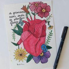 A primavera nasce onde se plantam flores 🌸🌻🌿 ⚫ ⚫ ⚫ #watercolour #watercolor #aquarelle #aquarela #ilustración #ilustração #illustration #draw #sketch #paint #desenho #dibujo #desenhando #cactus #flores #flower #coracao #heart #suculentas #nature #love #amor #aquarelinhas #lettering #caligrafia #caligraphy #tipography #tipografia #handmade