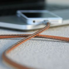 Add some real class to the way you charge your Apple device by pairing them up with this Leather Charging Cable.