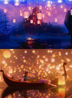 I love floating lanterns and that this was her dream to see them all:)