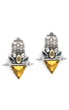Fenton Goa Pointed Link Earrings