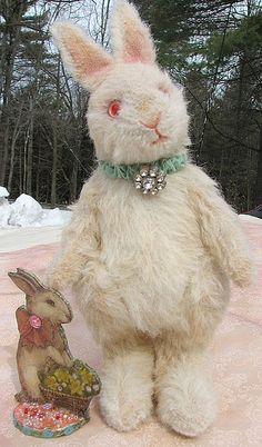 Vintage white bunny