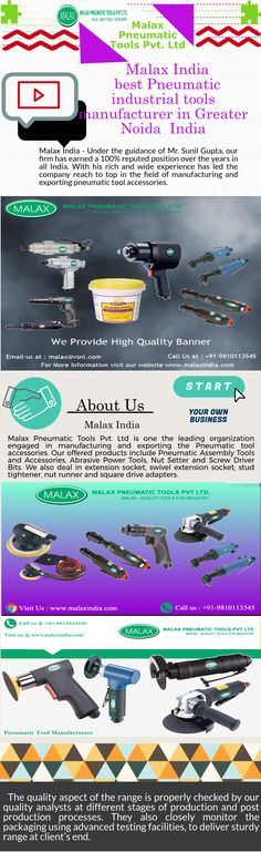 Malax is a reliable and trusted industrial tools manufacturer. Our impact screwdriver Philip Bit is mixture of metal alloy and heat treatment technology providing excellent outcome for assembly lines. We are always available for our clients & customers Power Tools, Industrial, India, Organization, Technology, Metal, Accessories, Getting Organized, Tech