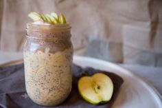 Apple Overnight Oats - Tartes and Recreation Apple Overnight Oats, Easy, Pie