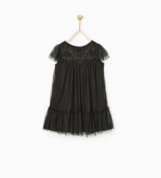Image 1 of BEADED TULLE DRESS from Zara