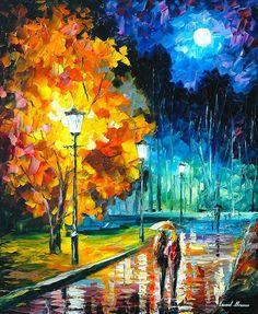 Noche romántica 2: espátula Luna colorido por AfremovArtStudio