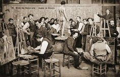 19th century life drawing - the atelier (workshop)