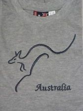 AUSTRALIAN SOUVENIR GREY T SHIRT  KANGAROO  FL