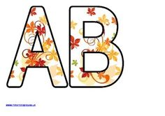 Free Printable Instant Display Lettering Sets For Classroom Bulletin Board DisplaysVery Pretty Fall Leaves