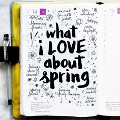journal page idea... what I love about spring
