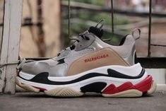 2d6a6f80a1 Balenciaga Triple S Gold Black Red Popular Sneakers, Popular Shoes, Sneakers  For Sale,