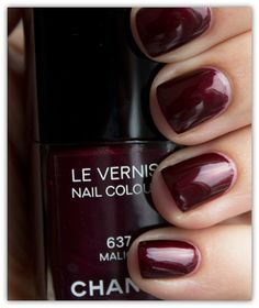 Chanel Nail Colour 637 Malice Swatches