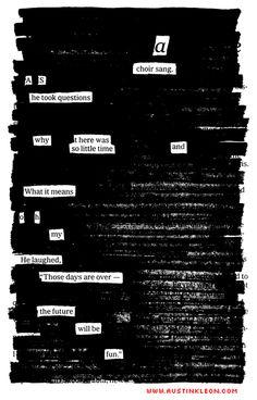 Blackout Poetry #nationalpoetrymonth