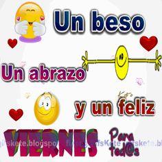 Un beso,un abrazo y un feliz viernes para tod@s!!