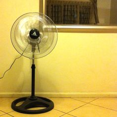 "Hanabishi 18"" electric fan 2012 model 1,580peso.  All metal, Adjustable stand height, Circular oscillation(?), No timer... It sucks.  www.myhanabishi.com"