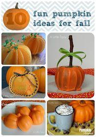 A Little Tipsy: 10 Fun Pumpkin Ideas for Fall