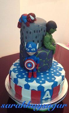 Marvel Cake... I want this!!
