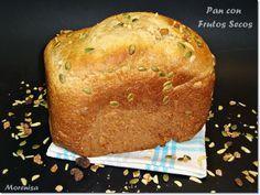 LA COCINA DE MORENISA: Pan en Panificadora con Harina Integral y Frutos Secos