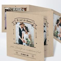 """The Thanksgiving card for the wedding """"kraft paper"""" convinces with vintage design. Save The Date Invitations, Birthday Invitations, Wedding Invitations, Wedding Letters, Wedding Cards, Thanksgiving Cards, Thanksgiving Wedding, Event Planning Business, Event Lighting"""