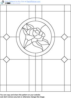 Free Rose Panel pattern. Get it and more free designs at http://Online.RapidResizer.com/patterns.php