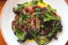 Ribeye Steak, Sprouting Broccoli & Chimichurri