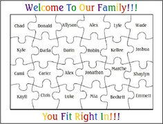"""Beginning bulletin board""""You Fit Right In!"""" Welcome to K- 1.  Place pieces up random with just name.  2. Decorate and add personal info. during first week."""