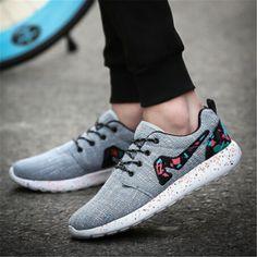 Cheap Súper ligero zapatos corrientes del Mens zapatillas de lona para hombre…