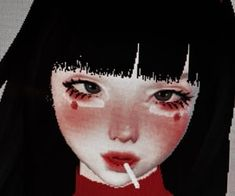 Image about girl in imvu icons by kill yourself Aesthetic Images, Aesthetic Makeup, White Aesthetic, Aesthetic Grunge, Aesthetic Vintage, Aesthetic Anime, Aesthetic Clothes, Virtual Girl, Real Anime
