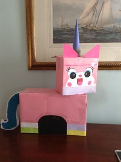 The Lego Movie,  Unikitty valentine's box I made for rune at 1am. A little rough but he loves it