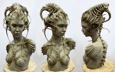 Gnomon School of Visual Effects Summer 2013 Best of Term Winner - Sculpture. Student work by Clarissa Pena.