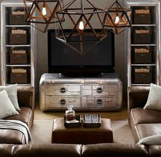 Living the Anthropologie way of life...: Vintage Industrial Living Rooms