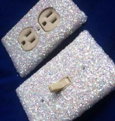 Glitter switchplate covers are the ideal way to give your plain home a fabulous makeover without breaking the bank. Every inch of these custom switchplates feature a luxurious glitter coating designed to turn them into the focal point of any room. Room Ideas Bedroom, Bedroom Decor, Girls Bedroom, Glitter Room, Glitter Wine, Glitter Shoes, Switch Plate Covers, Switch Plates, Light Switch Covers