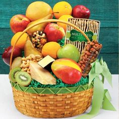 Fruit, Cheese & Nuts Fruit Basket « Holiday Adds