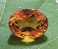 Madeira citrine 14.5 x 12.3 x 10.25mm Rare Gems, Citrine Gemstone, Beautiful Necklaces, Class Ring, Heart Shapes, Photo And Video, Orange, Gemstones, Crystals